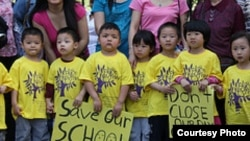United Neighborhood Houses of New York protesting budget cuts that affect disadvantaged children and Head Start school programs. The same services could also be hurt by the sequester. (United Neighborhood Houses of New York )