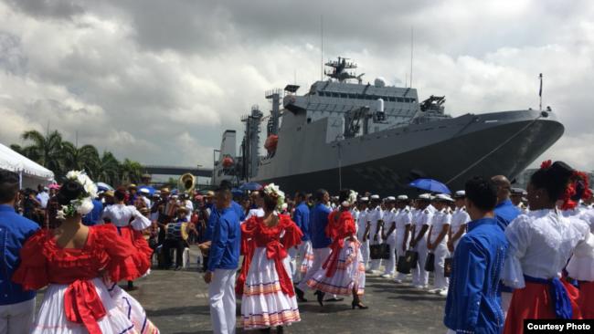 台灣軍艦2018年4月抵達多米尼加訪問(台灣駐多米尼加大使館照片)