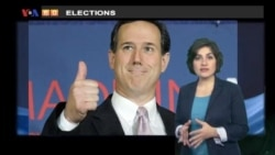 VOA60 Elections- Santorum wins south