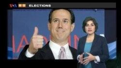 VOA60 Elections- Santorum wins south