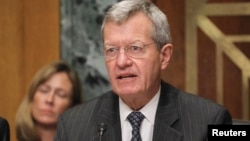 FILE - U.S. Senate Finance Committee Chairman Max Baucus