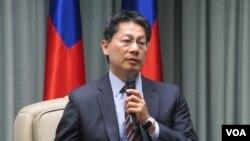 台灣外交部發言人李憲章(美國之音張永泰拍攝)