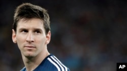 아르헨티나를 대표하는 축구선수 리오넬 메시 (자료사진)