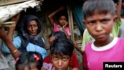 버마 락히인주에 거주하는 로힝야족. (자료사진)