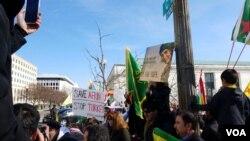 Kurdish Americans protest Attucks on Afrin