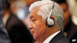 나카타니 겐 일본 방위상이 4일 말레이시아에서 열린 동남아시아국가연합 확대 국방장관회의에 참석했다.