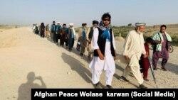 """""""Tinchlik karvoni"""" nomini olgan yurish Afg'onistonda urushni to'xtatish talabi bilan yuzlab kilometr masofani piyoda bosib o'tmoqda"""