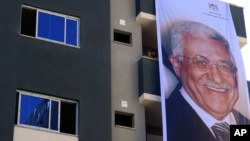 تصویر محمود عباس، رئیس ادارۀ خود گردان فلسطنینان در منطقۀ غزه