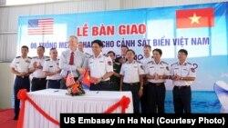 Đại sứ Mỹ Ted Osius trong buổi lễ bàn giao tàu tuần tra cho Việt Nam ngày 22/5/2017.