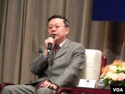 台湾陆委会主委王郁琦 (美国之音许波 拍摄)