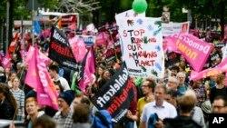 Protestos em Hamburgo