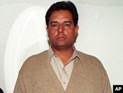 """FILE - Mohammed Safdar, son-in-law of Pakistan's recently ousted prime minister, is seen in a family photo taken Dec. 10, 2000, in Islamabad. Safdar, a national assemblyman, said members of the Ahmadiyya sect are a """"danger to this country, this nation, its constitution and its identity."""""""