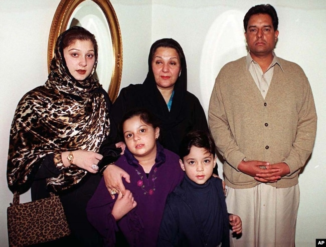 "FILE - Mohammed Safdar, son-in-law of Pakistan's recently ousted prime minister, is seen in a family photo taken Dec. 10, 2000, in Islamabad. Safdar, a national assemblyman, said members of the Ahmadiyya sect are a ""danger to this country, this nation, it"