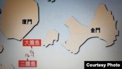 大膽二膽島位置圖(香港文匯報網站)