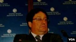 """""""El EPU es una política de Estado"""", aseguró Santos en el Instituto para la Paz de EE.UU."""