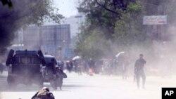 Hiện trường vụ đánh bom thứ hai tại thủ đô Kabul, Afghanistan, hôm thứ Hai 30/4/2018.