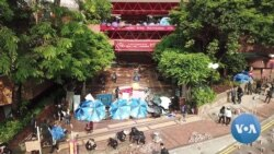 Inside Campus Fortresses, Hong Kong Students Prep for Battle