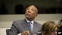 Rais wa zamani wa Liberia Charles Taylor akiwa mahakamani huko Leidschendam, karibu na The Haque, Nertherlands, May 16, 2012