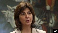 La canciller colombiana María Angela Holguín se reune este lunes con el secretario de la ONU, Ban Ki-moon, para discurtir la sentencia de La Haya sobre el archipiélago San Andrés.