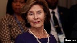 မွတ္တမ္းဓါတ္ပံု ၂၀၁၉ စက္တင္ဘာ ၅ ရက္တုန္းက ကန္သမၼတကေတာ္ေဟာင္း Laura Bush