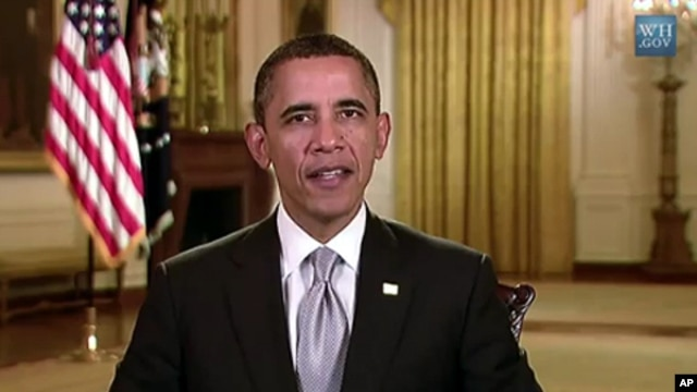 President Barack Obama's weekly address from the White House, January 28, 2012.