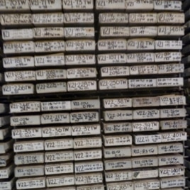 Core sample labels identify the exact spot on the sea floor where the sample was taken. Slight variations in location can make a significant difference in the chemical and biological composition of the sediment sample.