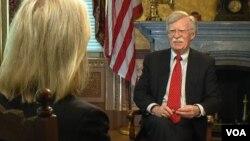 美国总统国家安全顾问约翰·博尔顿接受美国之音专访