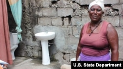 Thanks to MCC's investments in the country's water sector, people like Celestina now have indoor toilets and clean water that comes directly to their homes, saving them time spent collecting water from a public standpipe and improving their health and eco