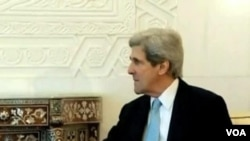 Syria Civil War Dominates Kerry's First Foreign Trip