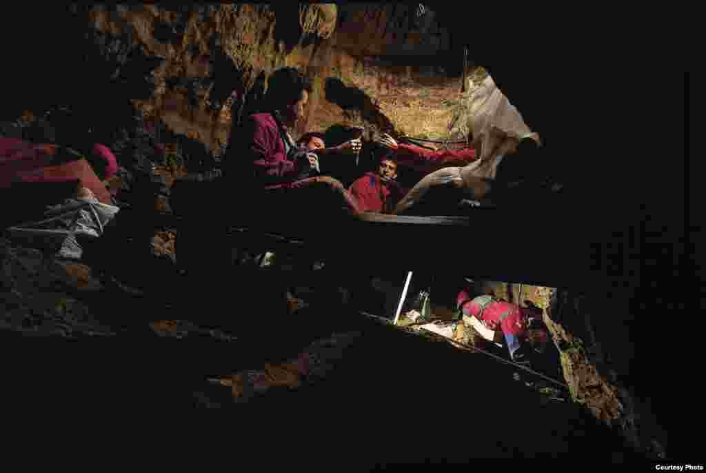 The Sima de los Huesos site. (Javier Trueba / Madrid Scientific Films)