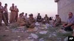 مواد امدادی امریکا که به بیجا شده گان عراقی رسیده است