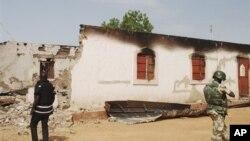 지난 6월 22일 폭탄 공격을 당한 나이지리아 다마투루의 초등 학교. (자료사진)