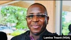 Me Guy Hervé Kam, avocat de la partie civile, à Ouagadougou, le 20 décembre 2018. (VOA/Lamine Traoré)