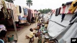 De nombreux Ivoiriens ont été déplacés par la violence, ceux du camp de Duékoué
