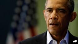 Tổng thống Obama phát biểu tại Edgartown, bang Massachusetts về việc thành viên nhóm Nhà nước Hồi giáo IS giết hại nhà báo Mỹ James Foley, 20/8/2014.