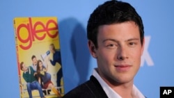 "Cory Monteith, a cast member in ""Glee,"" poses at the television show's second season premiere in Los Angeles, Sept. 7, 2010."