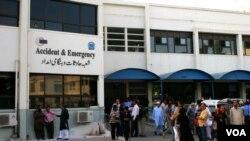 لیاقت نیشنل اسپتال کراچی جہاں رشید گوڈیل زیر علاج ہیں