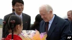 美國前總統卡特兩個星期前訪問了北韓