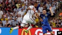 Hàng phòng ngự chặt chẽ của Đức đã vô hiệu hóa Messi.