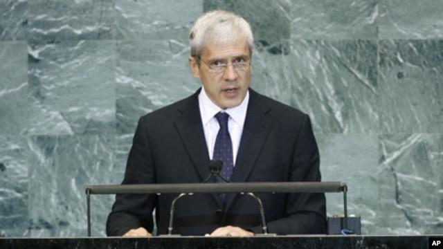 Boris Tadic, President of the Republic of Serbia, addresses the general debate of the 65th session of the United Nations General Assembly in New York, 25 Sep 2010