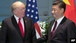 Дональд Трамп и Си Цзиньпин (архивное фото)