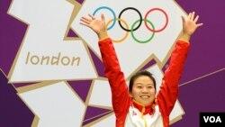لندن اولمپکس 2012 میں پہلا طلائی تمغہ جیتنے والی چینی خاتون، سلنگ یی