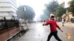 معترضین با نیروهای امنیتی در قاهره درگیر شدند