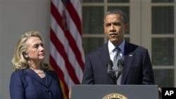 Le président Obama et la secrétaire d'Etat Hillary Clinton à la Maison-Blanche