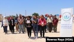 Derbiderên Efrînî di Roja di Roja Cîhanî ya penaberan de li Şehba -Efrîn - Sûriye