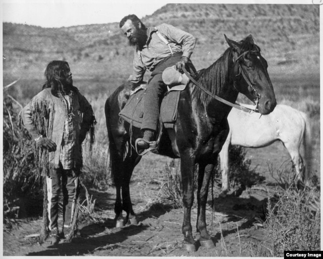 Geologist and explorer John Wesley Powell introduced the importance of science in decision-making with his surveys and analysis of the unmapped regions of the United States in the late 1800s. Shown here in the Utah territory. (Smithsonian Institution)