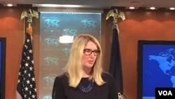 美国国务院战略沟通资深顾问玛丽·哈夫(美国之音张蓉湘拍摄)