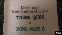 Bìa sách 'Chính Sách Bành Trướng Bá Quyền TQ ở Đông Nam Á'