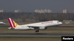 FILE - A Germanwings Airbus A320 registration D-AIPX is seen at the Berlin airport in this March 29, 2014 file photo.