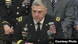 被提名接任美军参谋长联席会议主席的陆军参谋长米利(Mark Milley) (国会资料图)